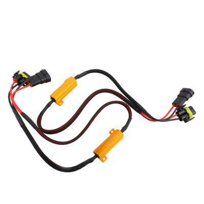 2PCS H11 LED Headlight Decoder Resistor