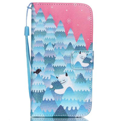 Buy PINKISH BLUE High-Grade Painted PU Phone for Samsung Galaxy S5 for $5.30 in GearBest store