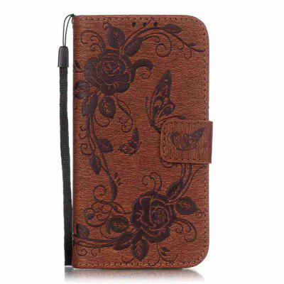 Embossed - Butterfly Flower PU Phone Case for Samsung Galaxy  S7