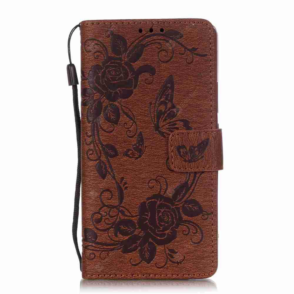 Embossed - Butterfly Flower PU Phone Case for HUAWEI  P9 Lite
