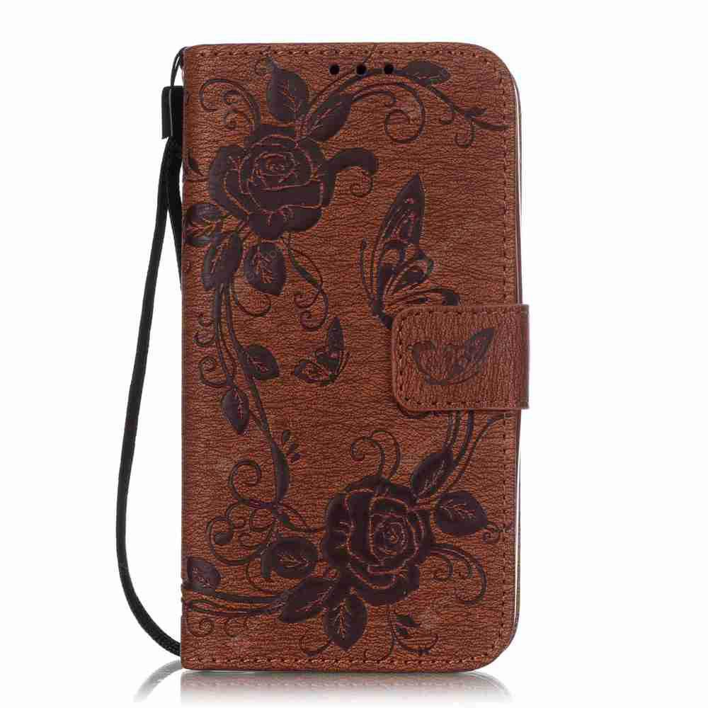 Embossed - Butterfly Flower PU Phone Case for  HUAWEI Y625