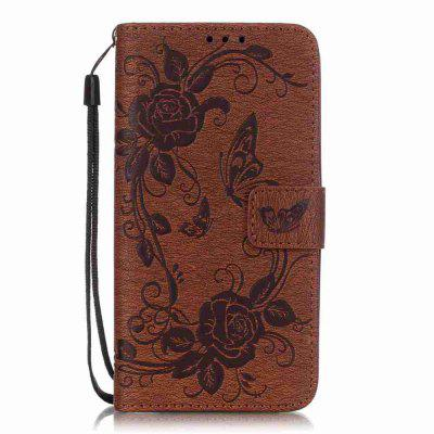 Embossed - Butterfly Flower PU Phone Case for  LG  G5