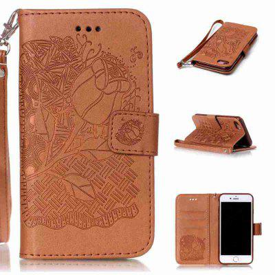 Double Embossed Rich Flowers PU TPU Case para iPhone 7/8