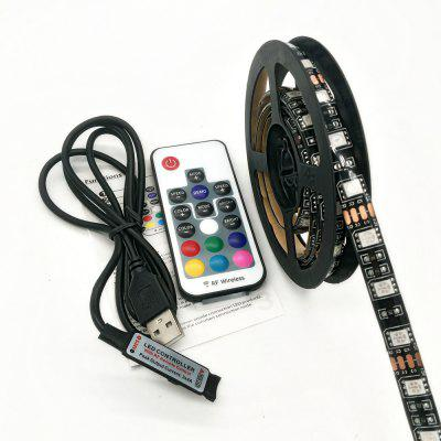 Buy BLACK 100CM ZDM 5V 15 30W 5050 100 / 200CM USB Waterproof RGB LED Light Strip with 17 Key IR Controller DC 5V for $7.18 in GearBest store