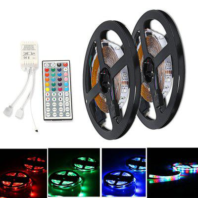 ZDM DC12V 2835 300LEDs RGB Strips with IR44 Key Double Outlet Controller 2PCS