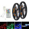 ZDM DC12V 2835 300LEDs RGB Strips with IR44 Key Double Outlet Controller 2PCS - MULTI-A