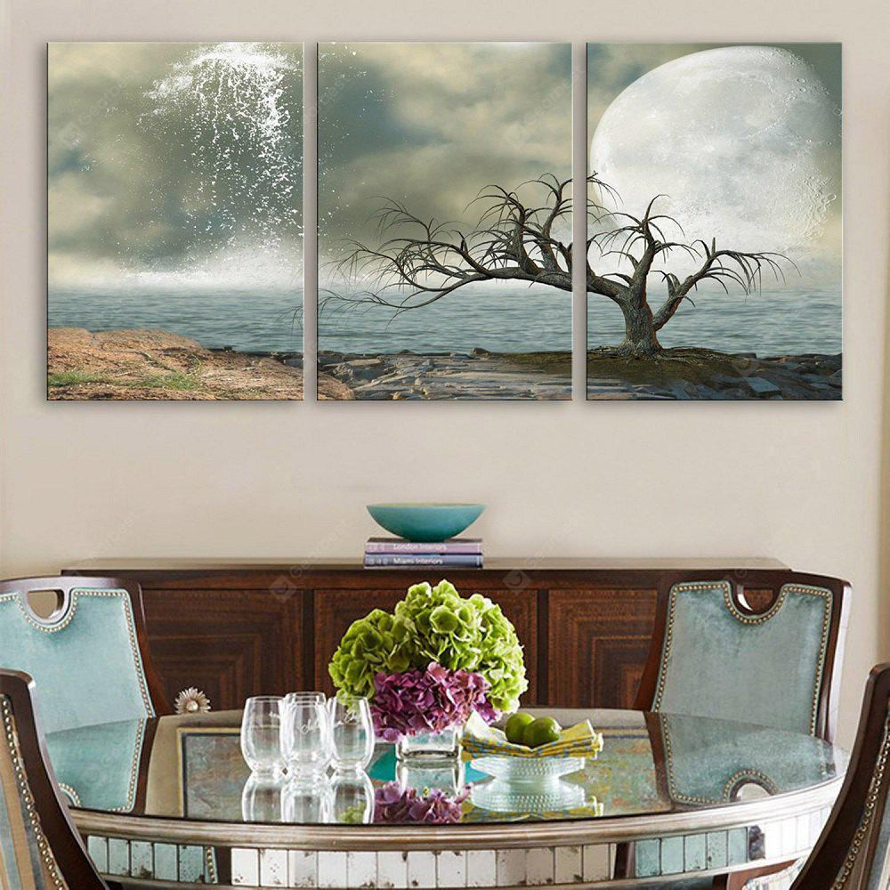 Special Design Frameless Paintings Beautiful Scenery Lake Pattern 3PCS