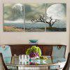 Special Design Frameless Paintings Beautiful Scenery Lake Pattern 3PCS - DARK GREEN