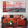 Special Design Frameless Paintings Sea Bridge Pattern 4PCS - PINK AND SILVER