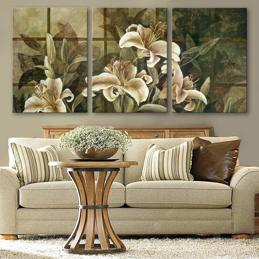 Special Design Frameless Paintings Beautiful Lily Pattern 3PCS