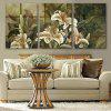 Special Design Frameless Paintings Beautiful Lily Pattern 3PCS - GREYISH GREEN