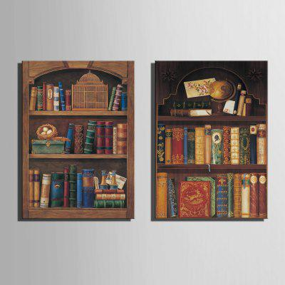 Special Design Frameless Paintings Bookcase Pattern 2PCSPainting<br>Special Design Frameless Paintings Bookcase Pattern 2PCS<br><br>Craft: Print<br>Form: Two Panels<br>Material: Canvas<br>Package Contents: 2 x Print<br>Package size (L x W x H): 28.00 x 38.00 x 2.00 cm / 11.02 x 14.96 x 0.79 inches<br>Package weight: 0.6200 kg<br>Painting: Include Inner Frame<br>Product weight: 0.6000 kg<br>Shape: Vertical<br>Style: Vintage, Streetwear, Novelty, Fashion, Casual, Active, Formal<br>Subjects: Cute<br>Suitable Space: Bedroom,Boys Room,Cafes,Dining Room,Game Room,Garden,Girls Room,Hotel,Indoor,Kids Room,Kids Room,Living Room,Office,Outdoor,Study Room / Office