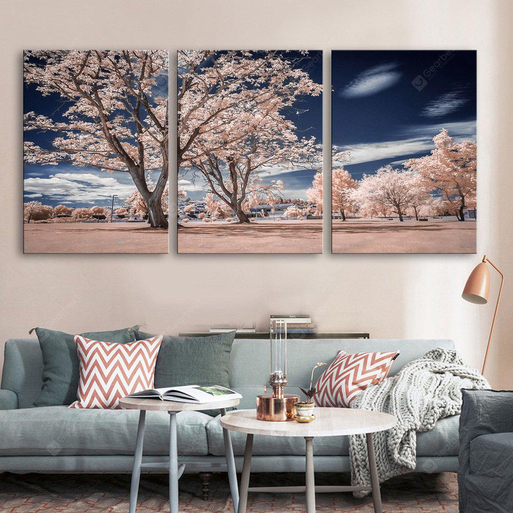 Special Design Frameless Paintings The Sky Under Trees 3PCS