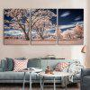 Special Design Frameless Paintings The Sky Under Trees 3PCS - PINK