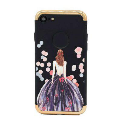 Buy BLACK&RED Electroplated 3 in 1 Goddess Figure Case for iPhone 7, Black for $3.68 in GearBest store
