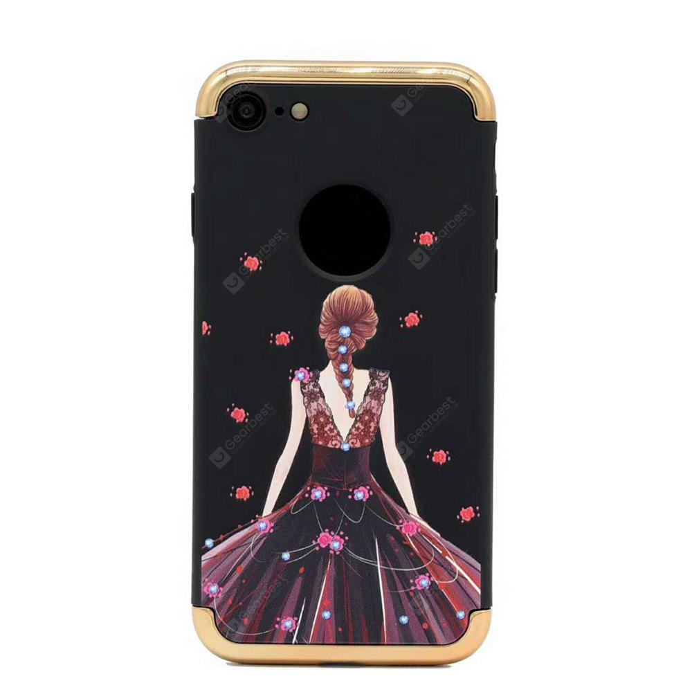 Electroplated 3 in 1 Goddess Figure Case for iPhone 8(Black)