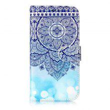 Wkae Glossy Embossed Leather Case Cover for Samsung Galaxy S6