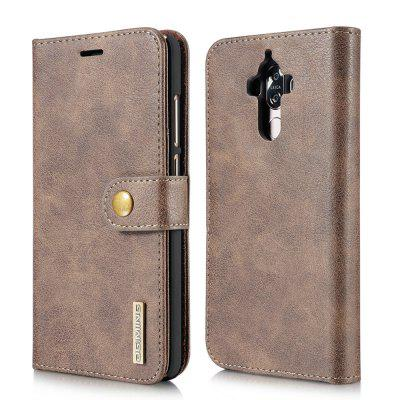 Buy GRAY DG.MING Cow Leather Separable Back Case with Magnetic Button Flip Wallet Cover for Huawei Mate 9 for $12.90 in GearBest store