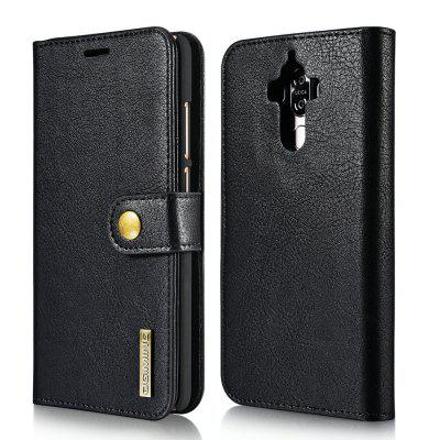 Buy BLACK DG.MING Cow Leather Separable Back Case with Magnetic Button Flip Wallet Cover for Huawei Mate 9 for $12.90 in GearBest store