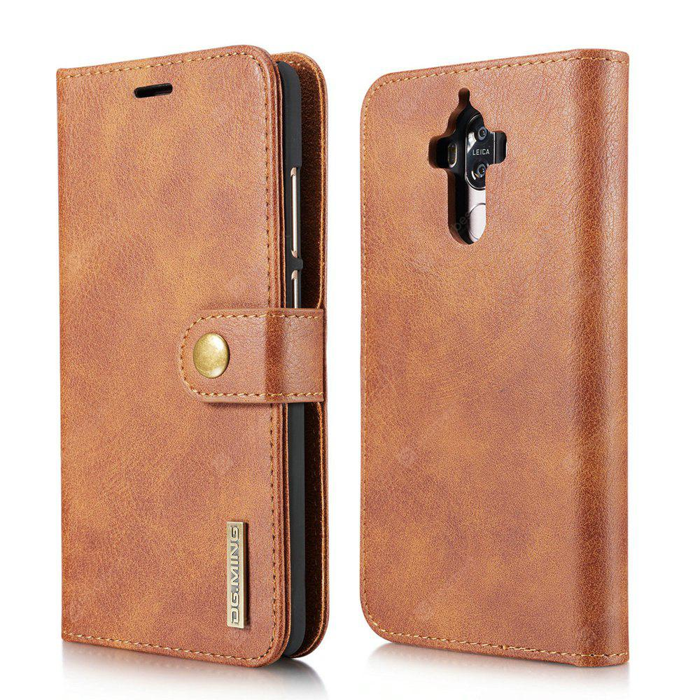 DG.MING Cow Leather Separable Back Case with Magnetic Button Flip Wallet Cover for Huawei Mate 9