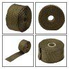 5m Heat Wrap Exhaust Manifold Downpipe Fibre Insulation Cloth with 10pcs 20cm Cable Ties for Car Motorcycle - BROWN