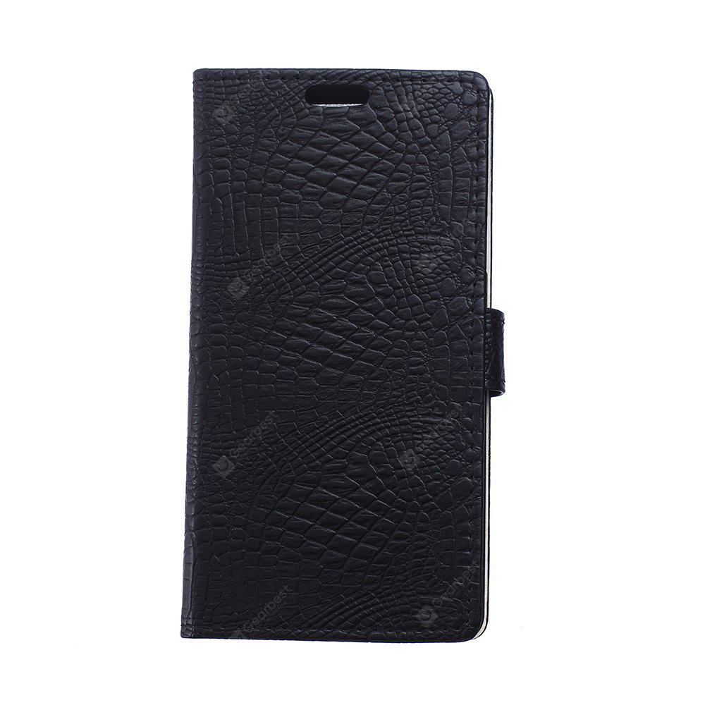 KaZiNe Crocodile Texture Wallet Stand Leather Cover For LG X POWER BLACK