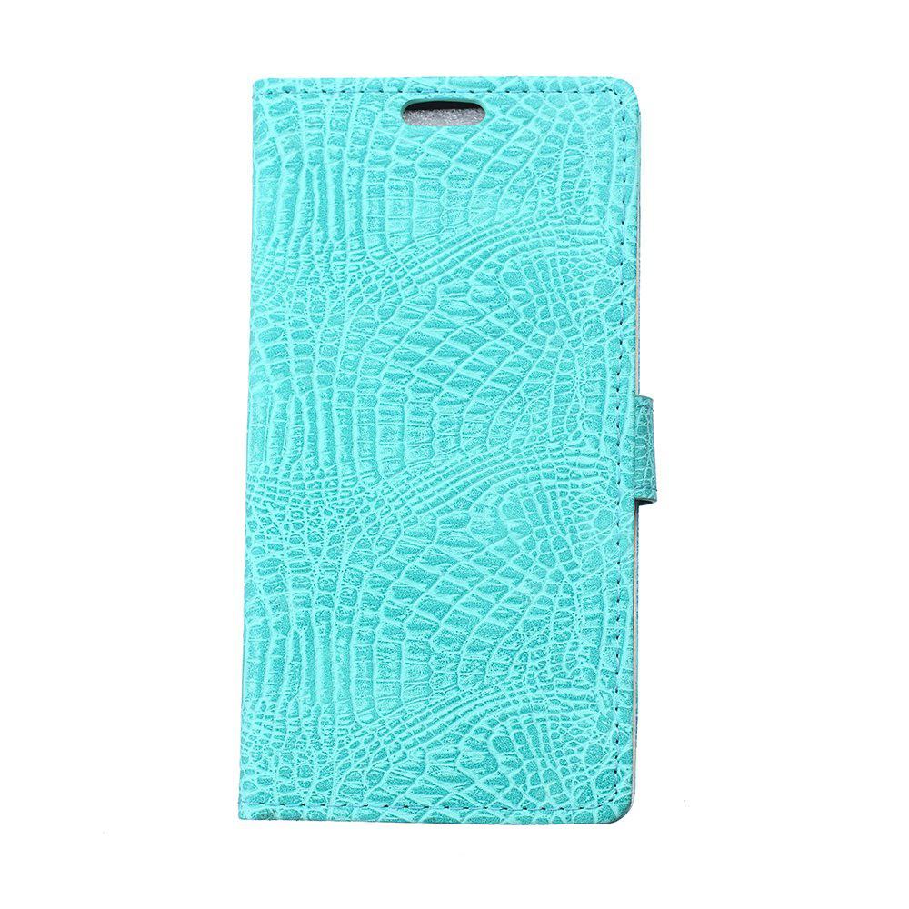 KaZiNe Crocodile Texture Wallet Stand Leather Cover For LG X POWER GREEN