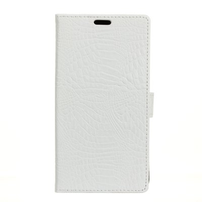 Buy KaZiNe Crocodile Texture Wallet Stand Leather Cover for LG X Power 2 WHITE for $3.51 in GearBest store
