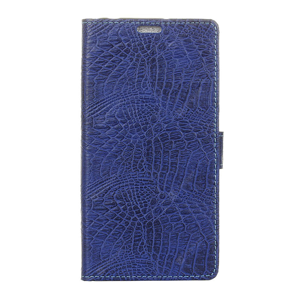 KaZiNe Crocodile Texture Wallet Stand Leather Cover For HTC 10 EVO BLUE