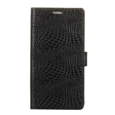 Buy KaZiNe Crocodile Texture Wallet Stand Leather Cover For HTC X10 BLACK for $3.91 in GearBest store