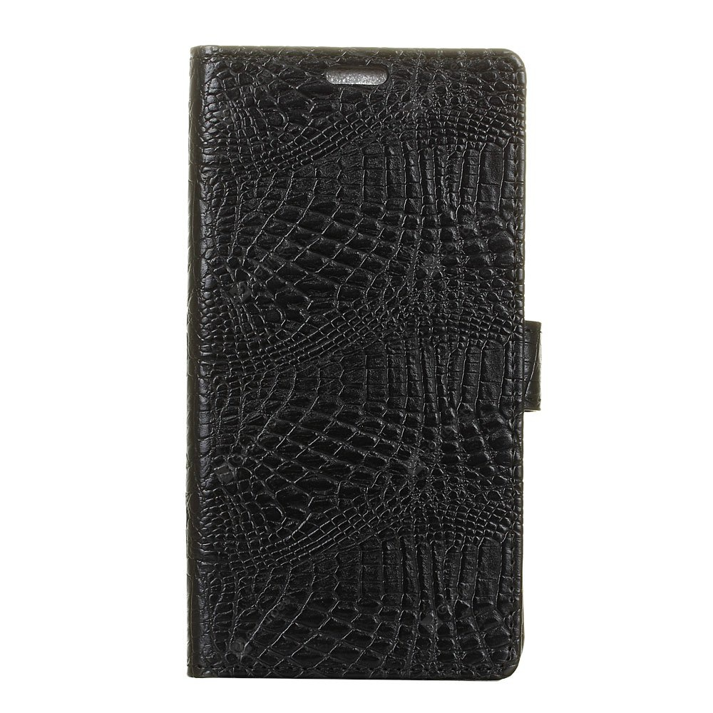 KaZiNe Crocodile Texture Wallet Stand Leather Cover For HTC X10 BLACK