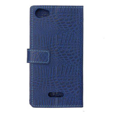 Buy BLUE KaZiNe Crocodile Texture Wallet Stand Leather Cover For WIKO FEVER for $3.99 in GearBest store