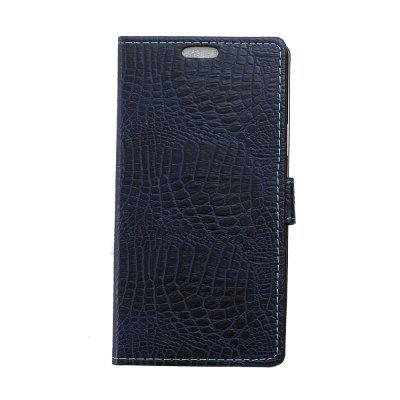 Buy KaZiNe Crocodile Texture Wallet Stand Leather Cover For WIKO TOMMY BLUE for $3.91 in GearBest store