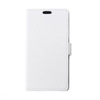 Buy KaZiNe Crocodile Texture Wallet Stand Leather Cover For WIKO FREDDY WHITE for $3.51 in GearBest store