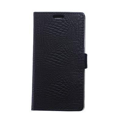 Buy KaZiNe Crocodile Texture Wallet Stand Leather Cover for WIKO HARRY BLACK for $3.91 in GearBest store