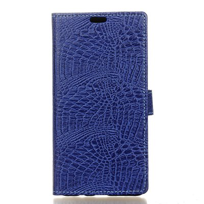 Buy KaZiNe Crocodile Texture Wallet Stand Leather Cover for WIKO HARRY BLUE for $3.91 in GearBest store
