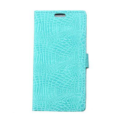 Buy KaZiNe Crocodile Texture Wallet Stand Leather Cover for WIKO HARRY GREEN for $3.91 in GearBest store