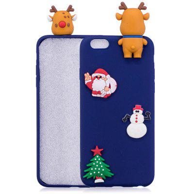 Buy BLUE Christmas Tree Santa Claus Reindeer 3D Cartoon Animals Soft Silicone TPU Case for iPhone 6 Plus / 6S Plus for $3.66 in GearBest store