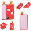 Árvore de Natal Santa Claus Reindeer 3D Cartoon Animals Soft Silicone TPU Case para iPhone 6 Plus / 6S Plus - VERMELHO