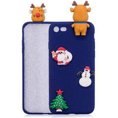 Buy BLUE Christmas Tree Santa Claus Reindeer 3D Cartoon Animals Soft Silicone TPU Case for iPhone 7 / 8 for $3.66 in GearBest store