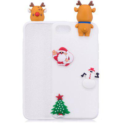 Árvore de Natal Santa Claus Reindeer 3D Cartoon Animals Soft Silicone TPU Case para iPhone 7/8