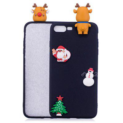Árvore de Natal Santa Claus Reindeer 3D Cartoon Animals Soft Silicone TPU Case para iPhone 7 Plus / 8 Plus