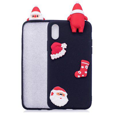 Christmas Hat Tree Santa Claus Reindeer 3D Cartoon Animals Soft Silicone TPU Case para iPhone X