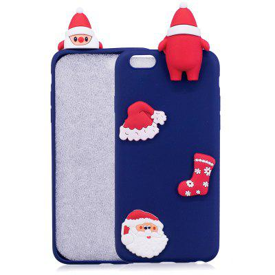 Buy BLUE Christmas Hat Tree Santa Claus Reindeer 3D Cartoon Animals Soft Silicone TPU Case for iPhone 6 / 6S for $3.66 in GearBest store