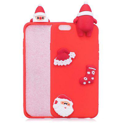 Christmas Hat Tree Santa Claus Reindeer 3D Cartoon Animals Soft Silicone TPU Case for iPhone 6 Plus / 6S Plus