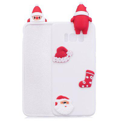 Buy WHITE Christmas Hat Tree Santa Claus Reindeer 3D Cartoon Animals Soft Silicone TPU Case for Samsung Galaxy S8 for $4.32 in GearBest store