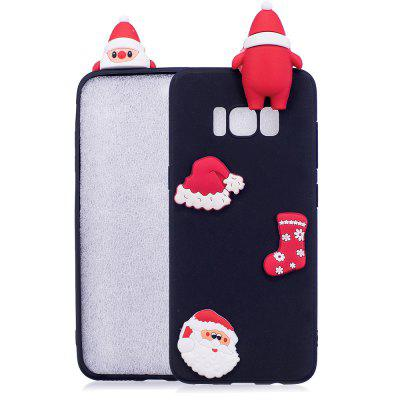 Buy BLACK Christmas Hat Tree Santa Claus Reindeer 3D Cartoon Animals Soft Silicone TPU Case for Samsung Galaxy S8 for $4.32 in GearBest store