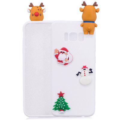 Buy WHITE Christmas Tree Santa Claus Reindeer 3D Cartoon Animals Soft Silicone TPU Case for Samsung Galaxy S8 Plus for $4.32 in GearBest store