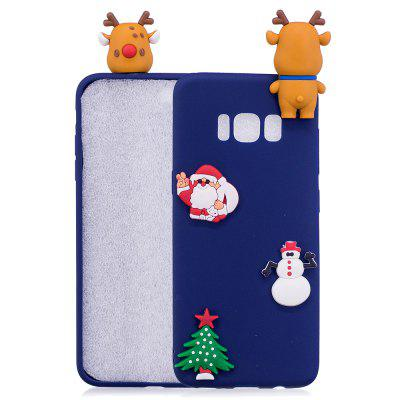 Buy BLUE Christmas Tree Santa Claus Reindeer 3D Cartoon Animals Soft Silicone TPU Case for Samsung Galaxy S8 Plus for $4.32 in GearBest store