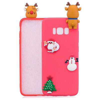 Buy RED Christmas Tree Santa Claus Reindeer 3D Cartoon Animals Soft Silicone TPU Case for Samsung Galaxy S8 Plus for $4.32 in GearBest store